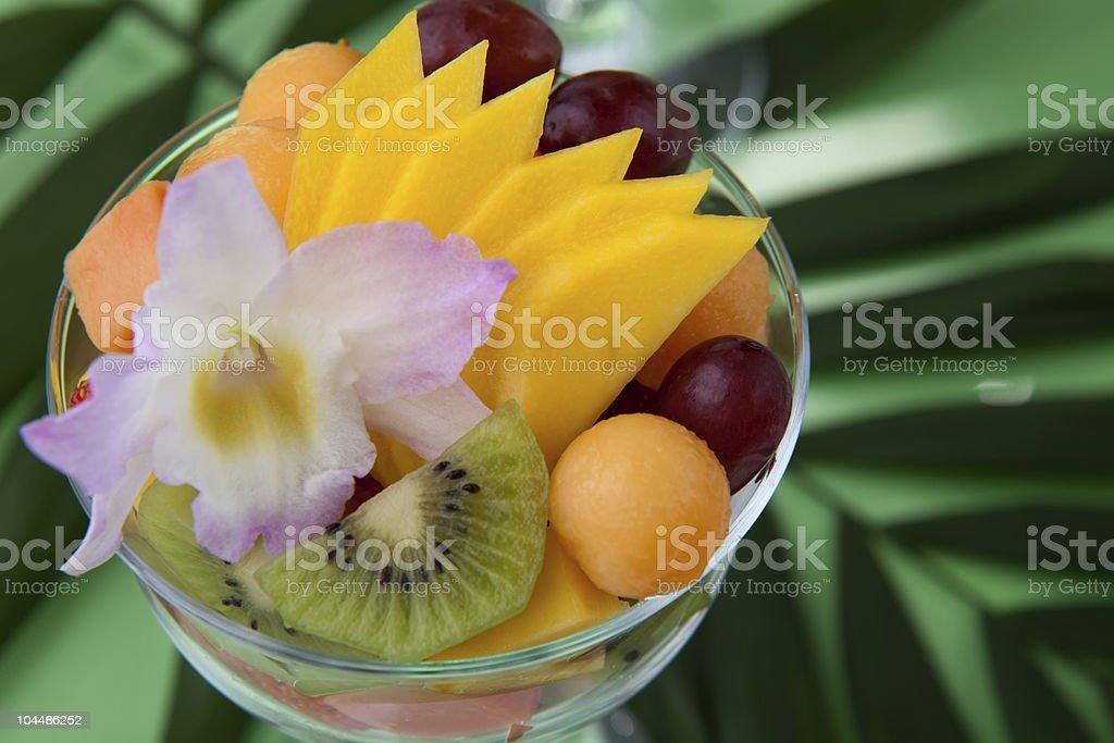 Tropical salad stock photo