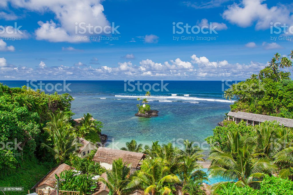 Tropical Samoa stock photo