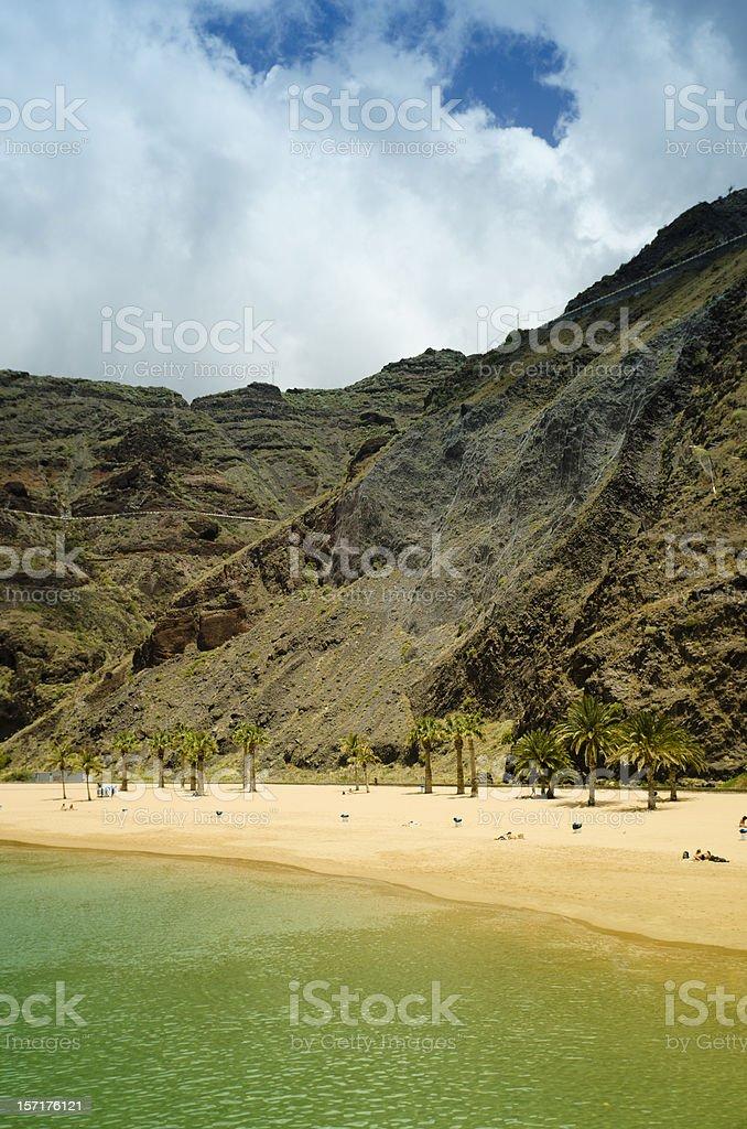 Tropical sand beach - Playa de las Teresitas royalty-free stock photo