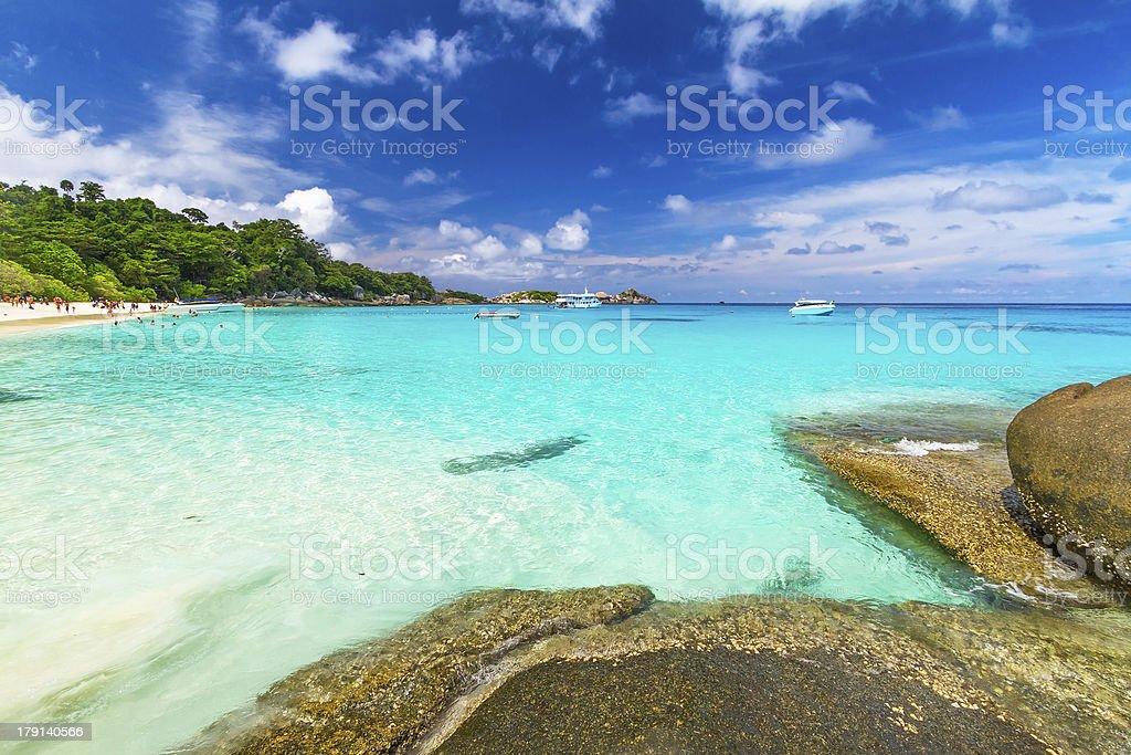 Tropical scenery of Similan islands stock photo