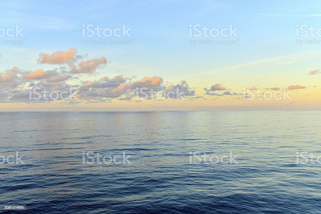 tropical sea and clouds stock photo