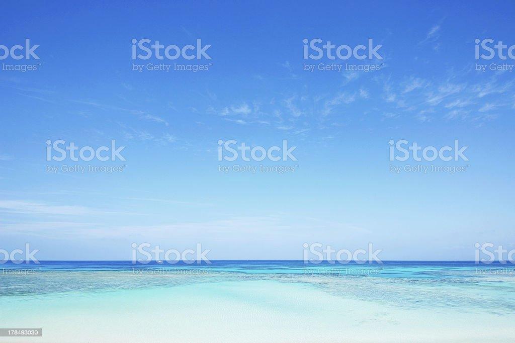 tropical seascape stock photo