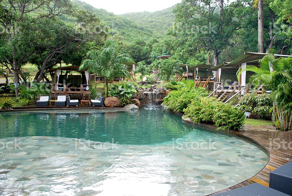 Tropical Spa Resort. stock photo