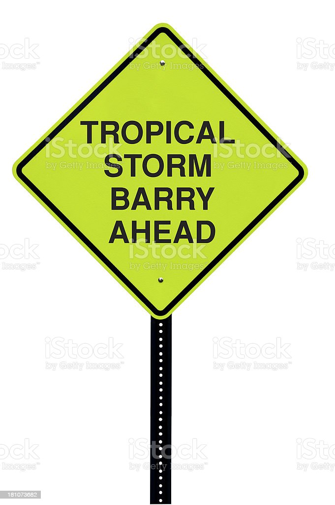 Tropical Storm Barry Sign royalty-free stock photo