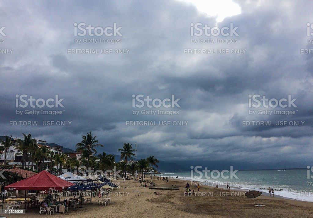 Tropical storm forming in Puerto Vallarta, Mexico stock photo