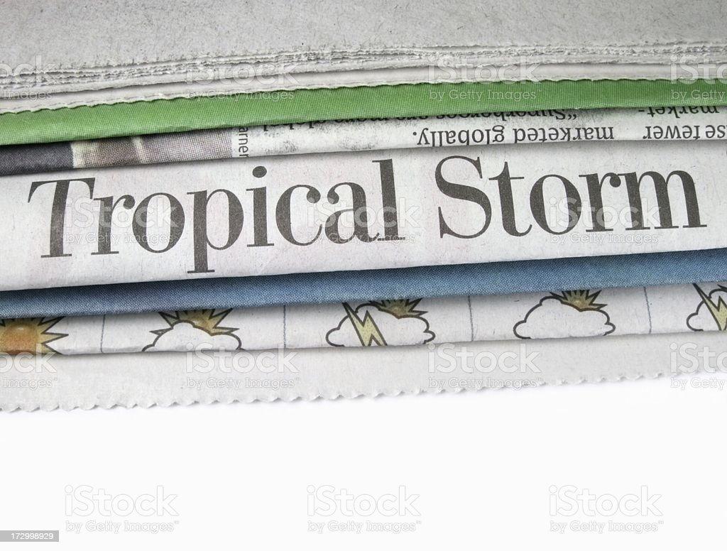 Tropical Storm Headline royalty-free stock photo