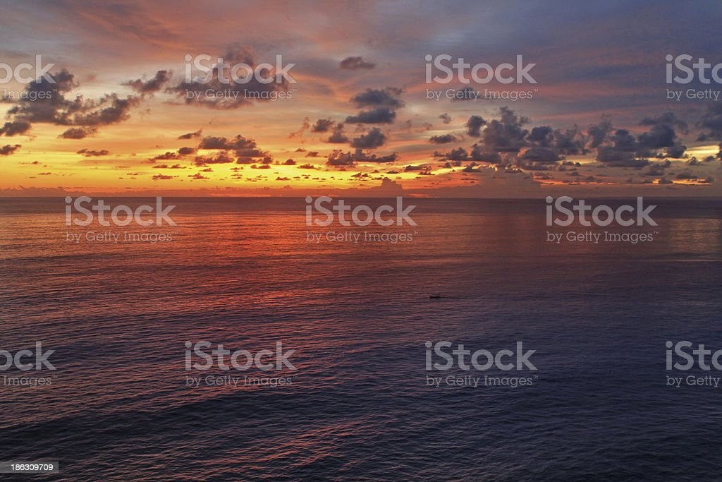 Tropical Sunset Ocean View stock photo