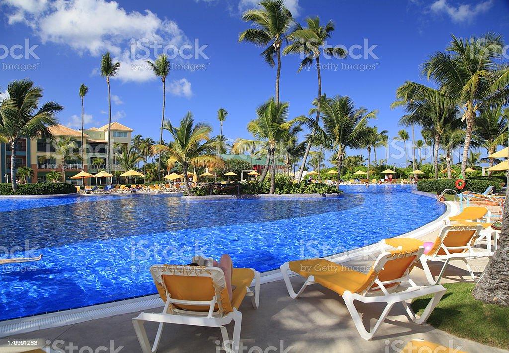 Tropical Swimming Pool (XXL) royalty-free stock photo