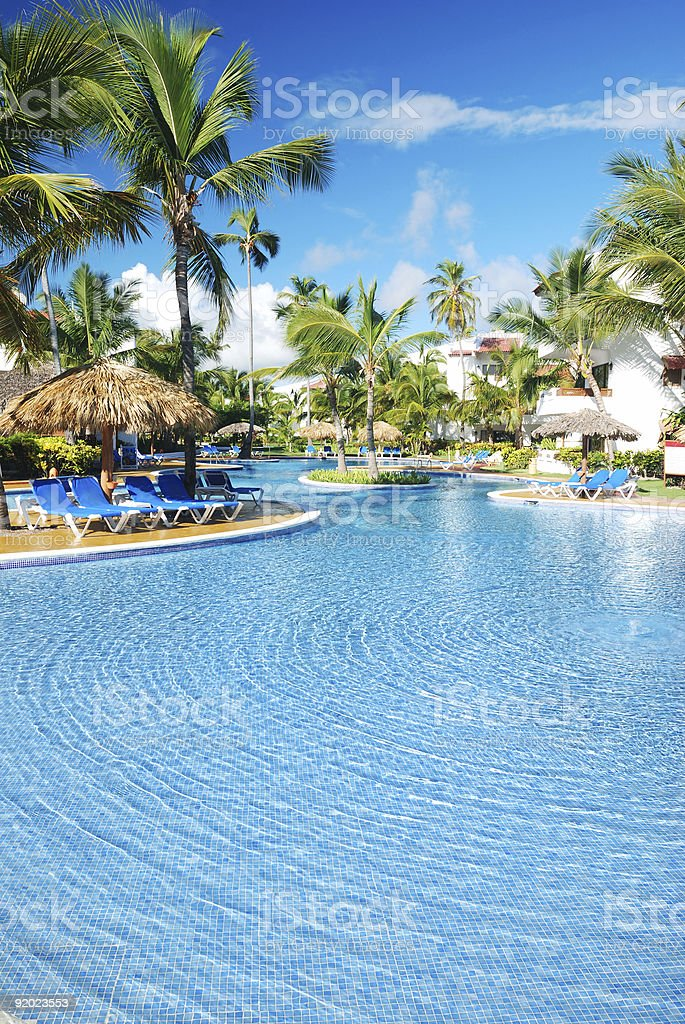Tropical swimming pool royalty-free stock photo