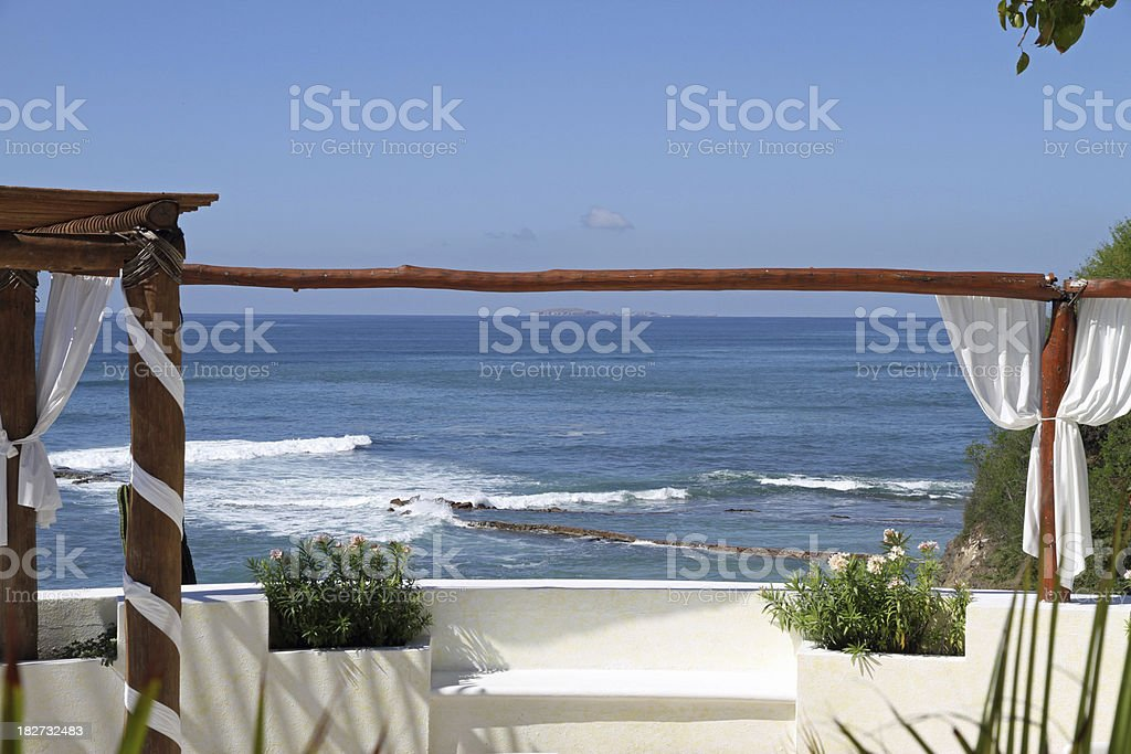 Tropical Terrace royalty-free stock photo