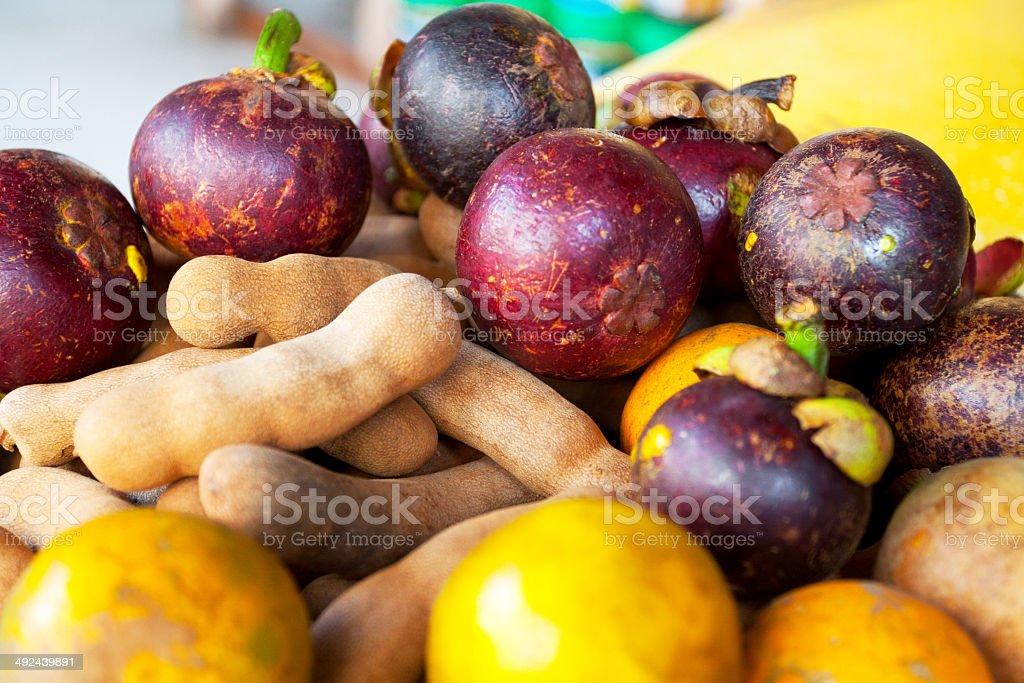 Tropical Thai fruits stock photo