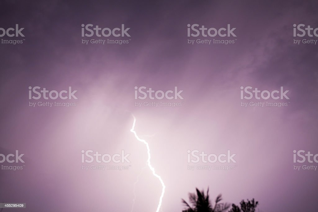 Tropical thunderstorm royalty-free stock photo