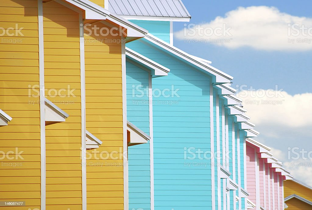 Tropical Townhomes stock photo