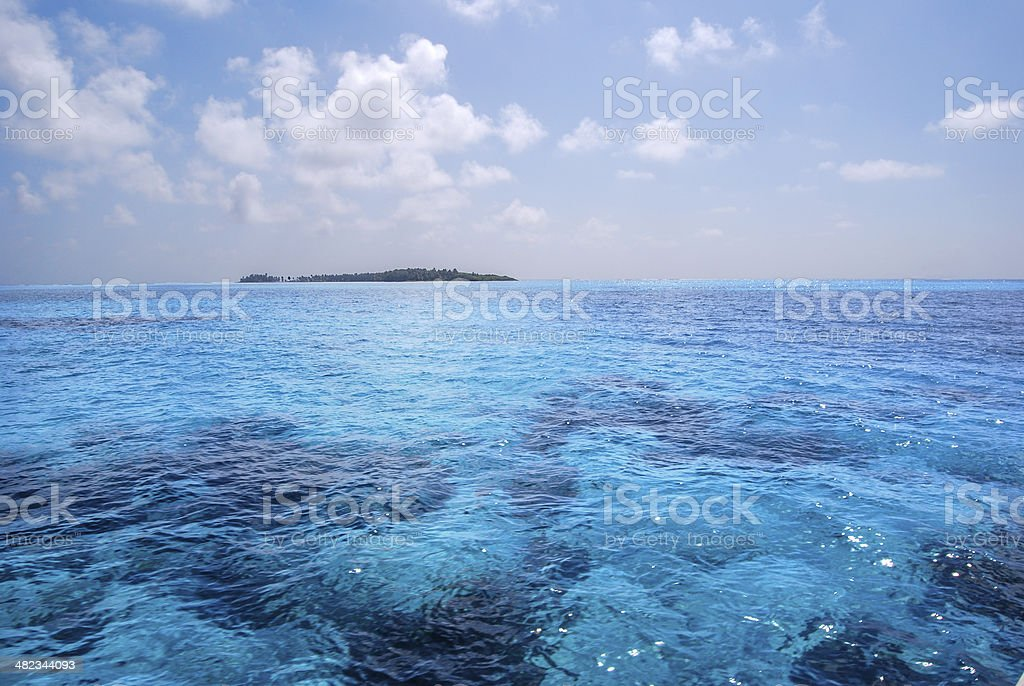 Tropical Turquoise Lighthouse Reef stock photo