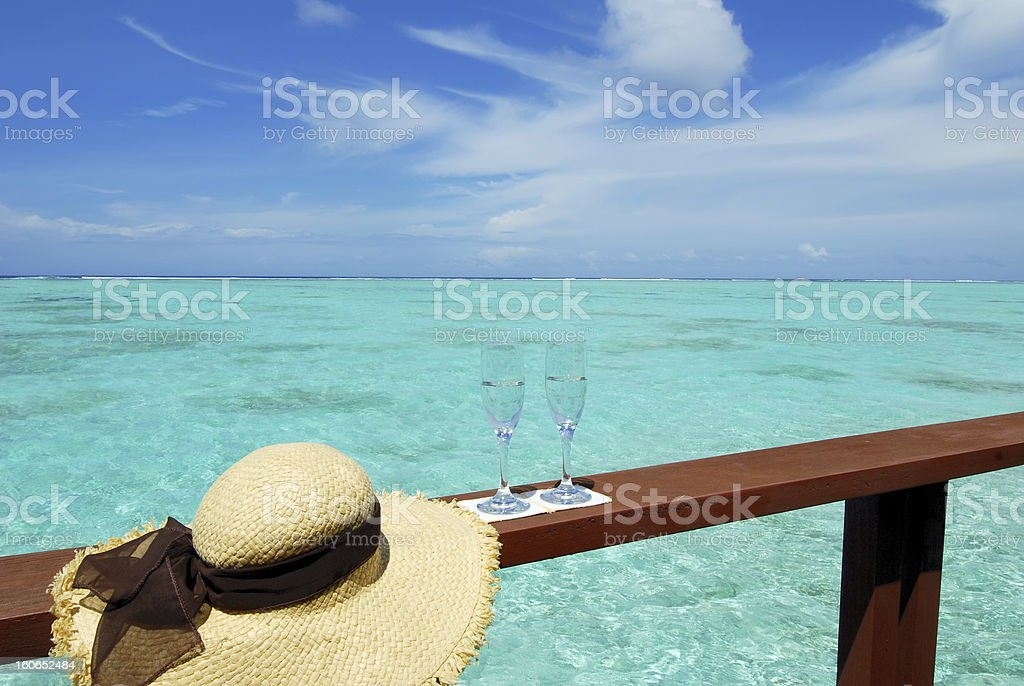 Tropical vacation concept royalty-free stock photo