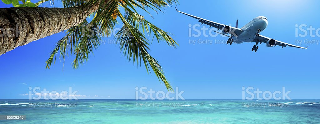 Tropical vacation concept stock photo