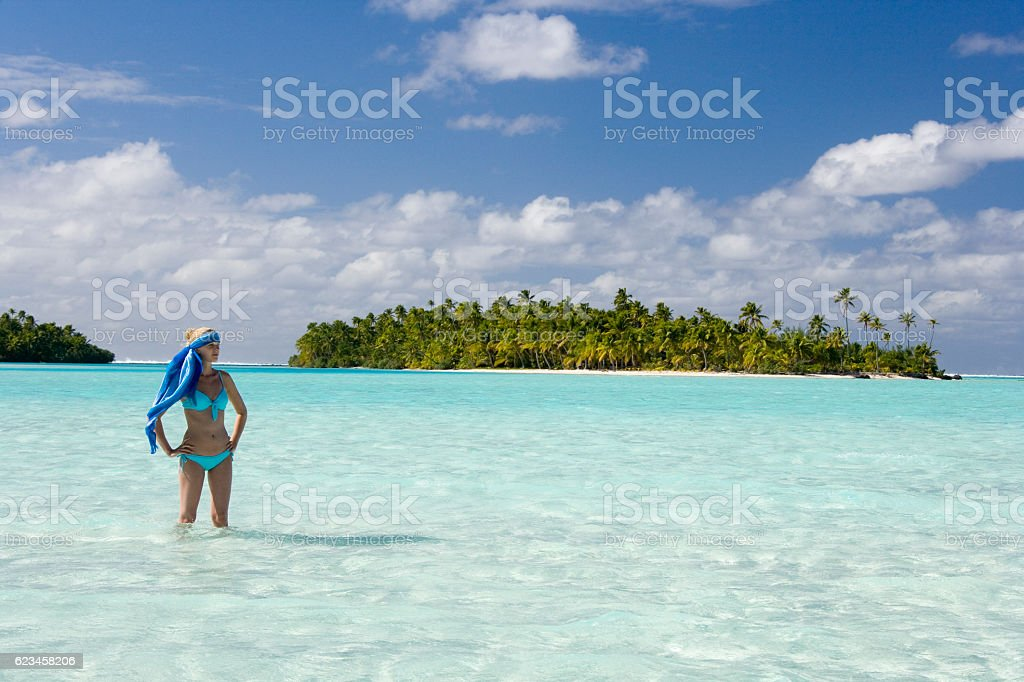 Tropical Vacation - Fiji - South Pacific stock photo