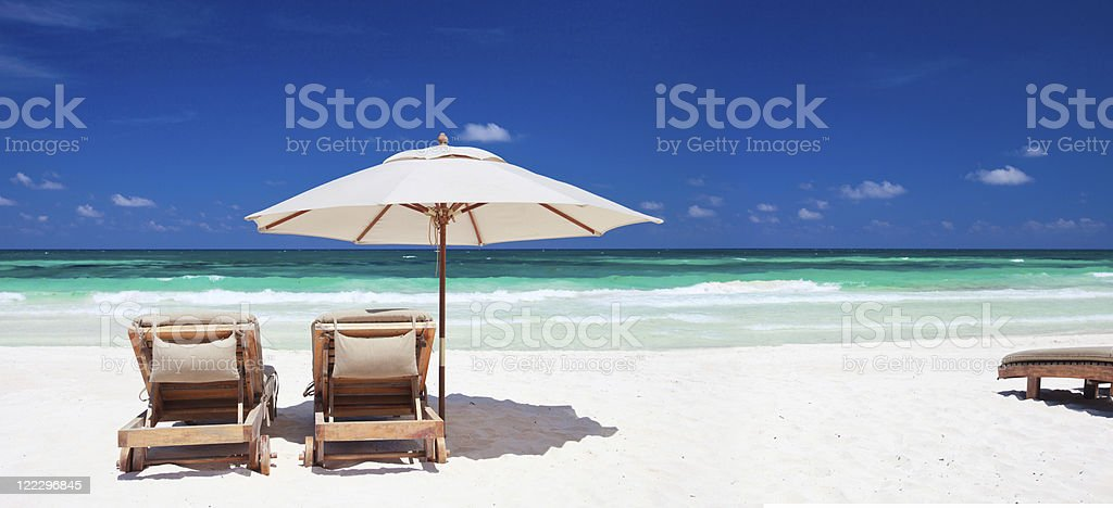 Tropical vacation stock photo