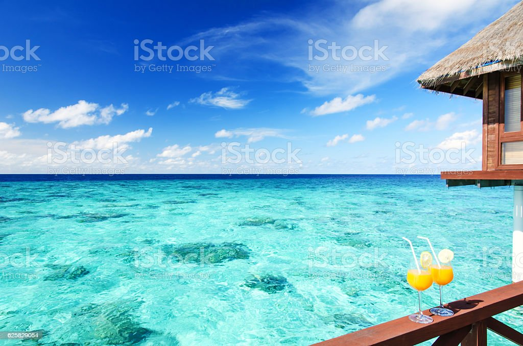 Tropical vacations concept stock photo