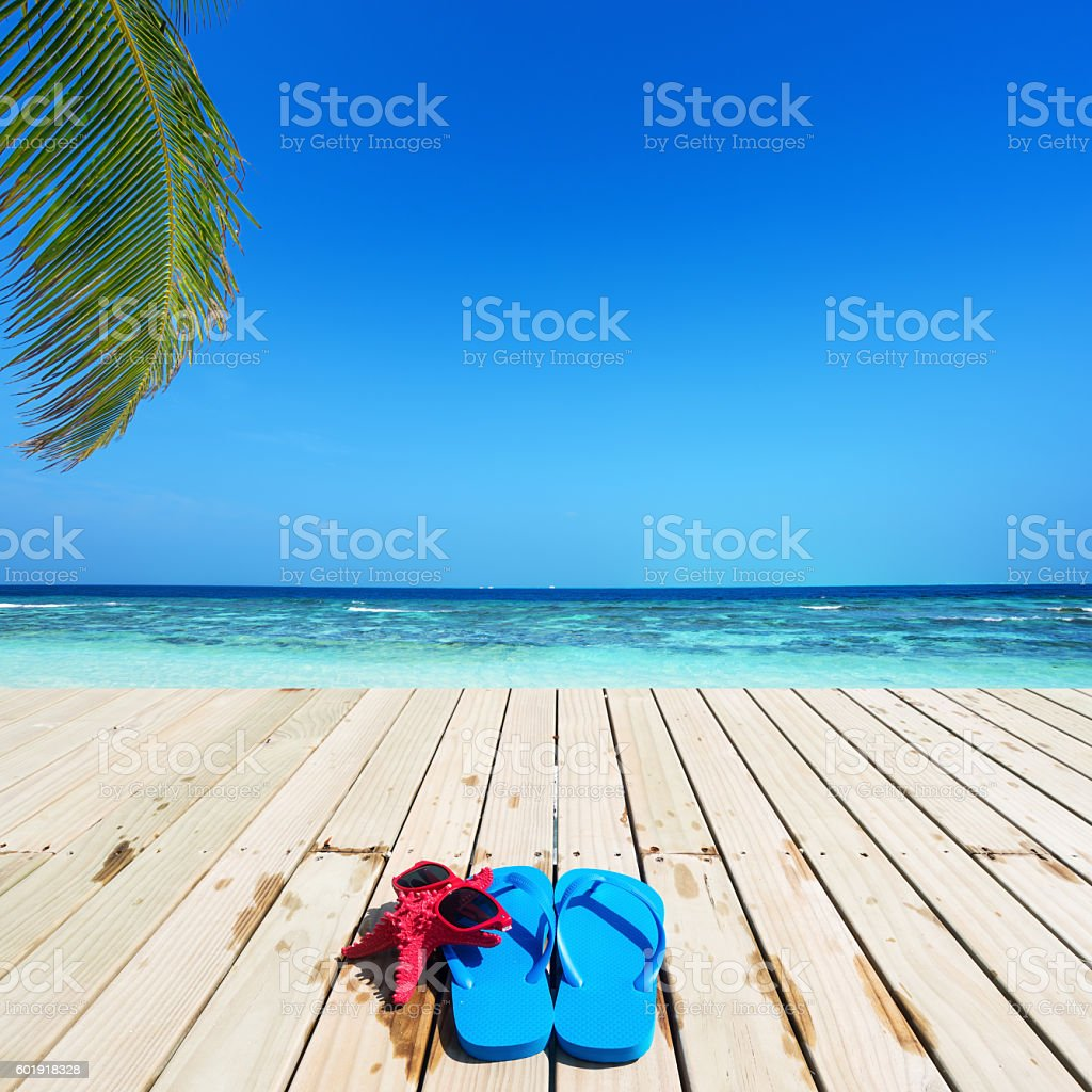 Tropical vacations stock photo
