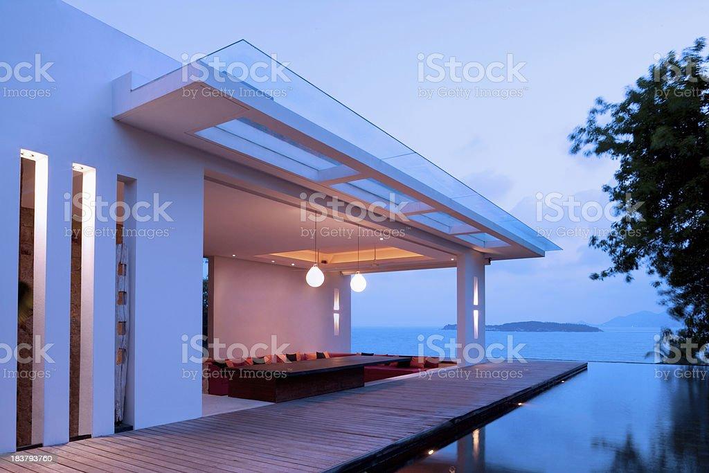 Tropical Villa stock photo