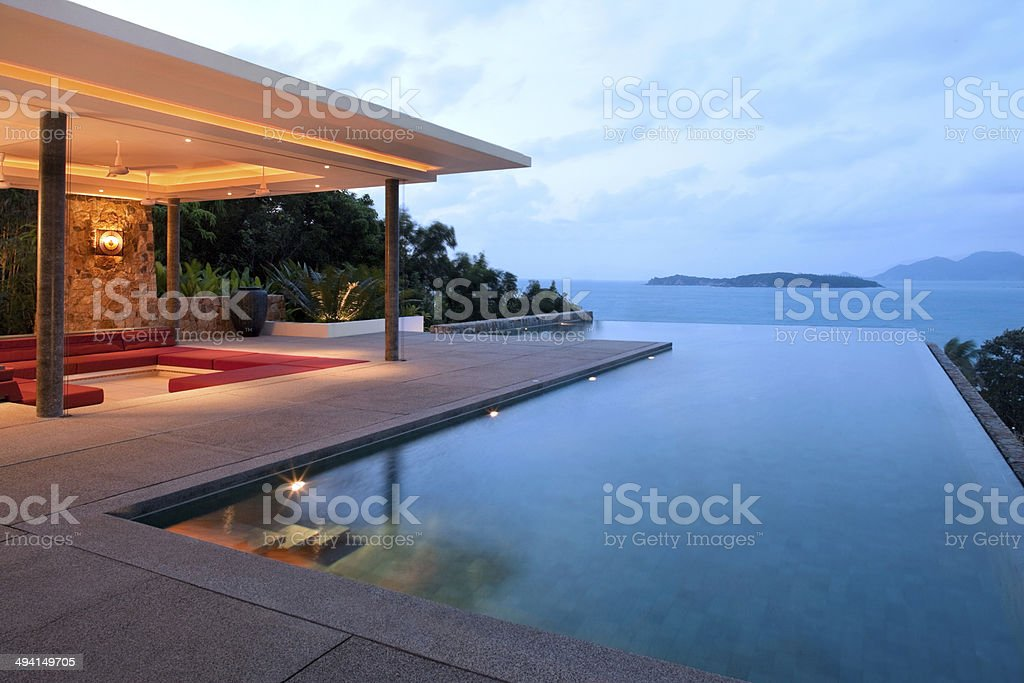 Tropical Villa stock photo