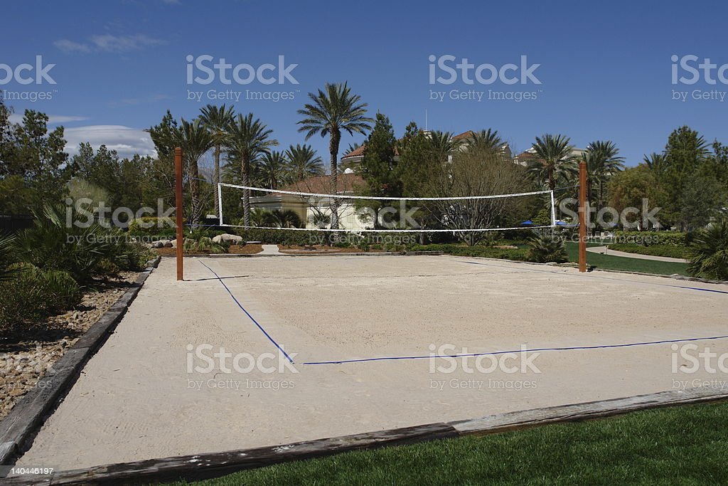 tropical volleyball court stock photo