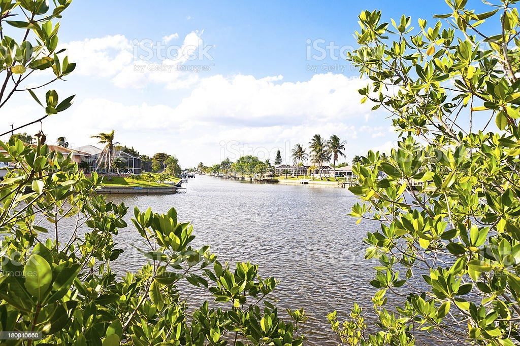 Tropical Water Canal royalty-free stock photo