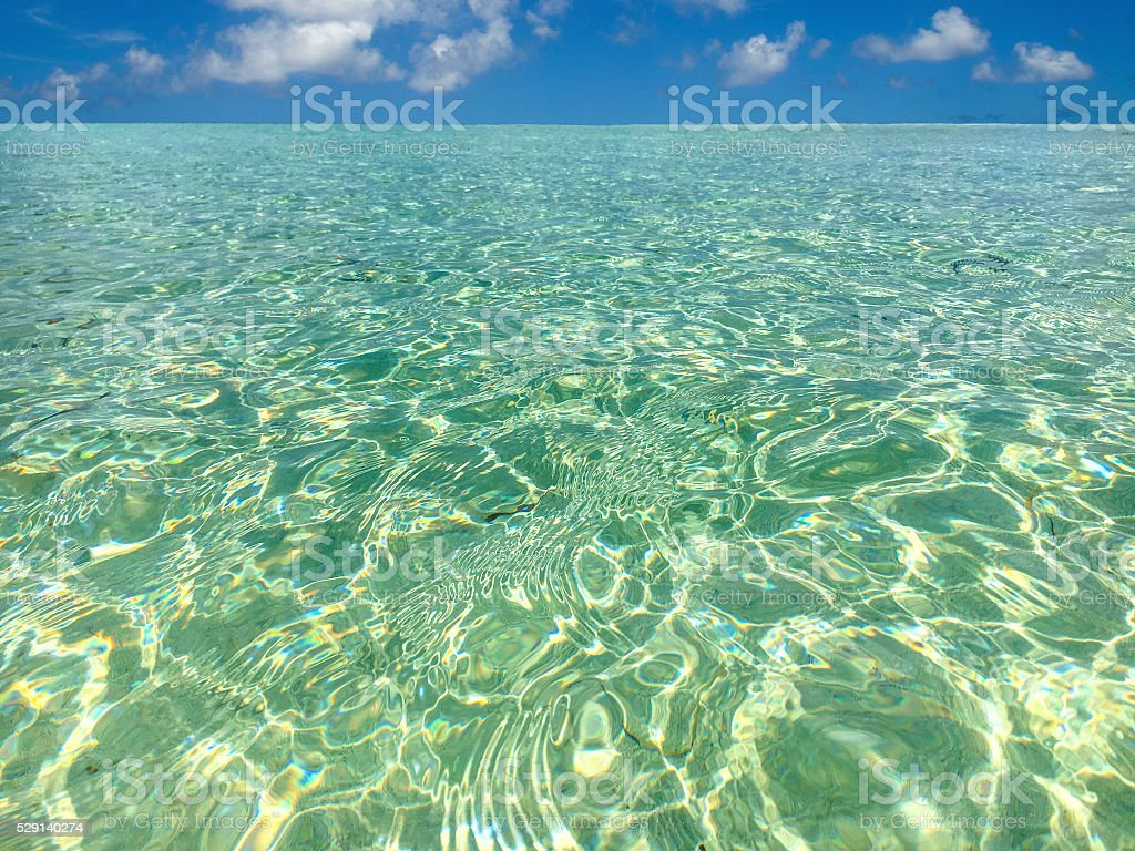 Tropical water perfection stock photo