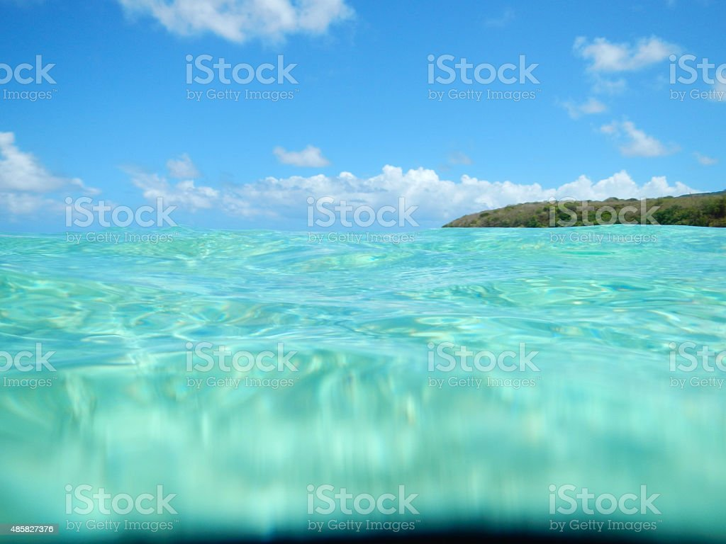 Tropical water surface stock photo
