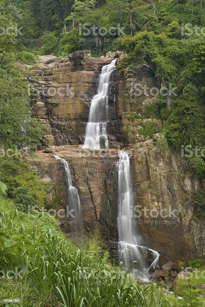 Tropical waterfal royalty-free stock photo