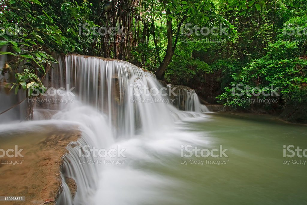 Tropical Waterfall in Thailand royalty-free stock photo