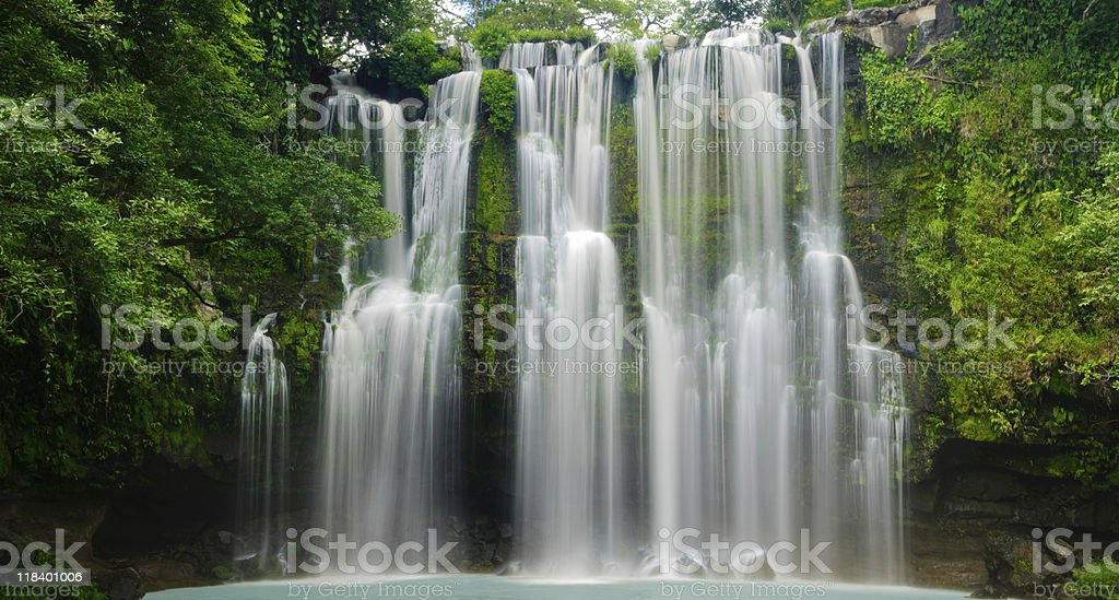 XXXL: Tropical Waterfall royalty-free stock photo