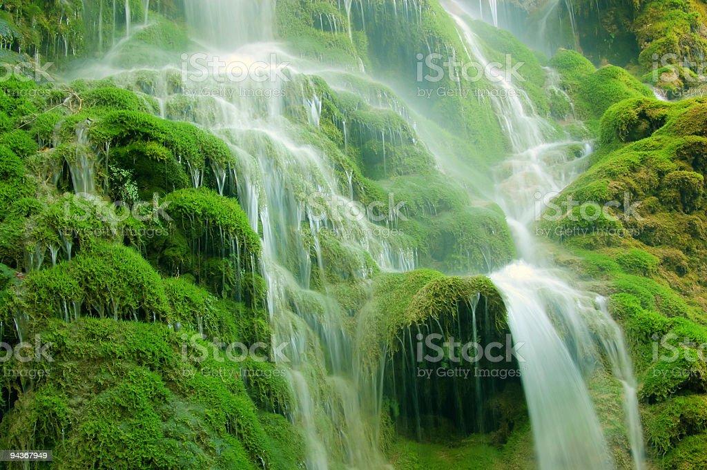 Tropical Waterfall stock photo