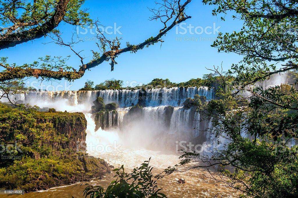 Tropical waterfalls stock photo