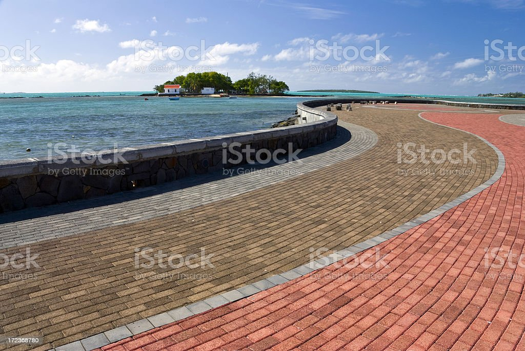 Tropical waterfront royalty-free stock photo