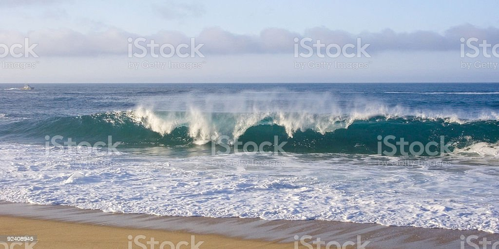 Tropical Wave Action stock photo
