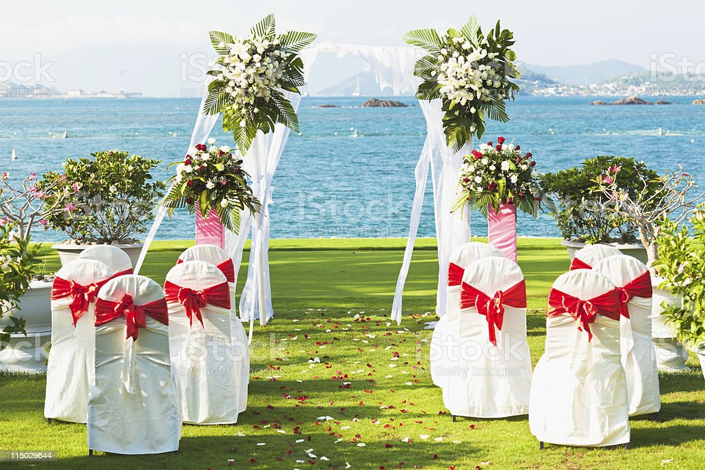 Tropical wedding royalty-free stock photo