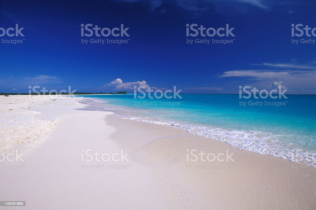 tropical white sand beach in Cuba royalty-free stock photo
