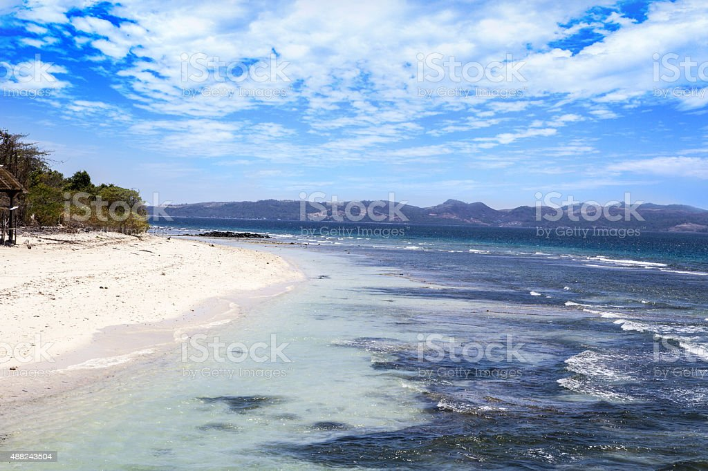 Tropical white sand stock photo