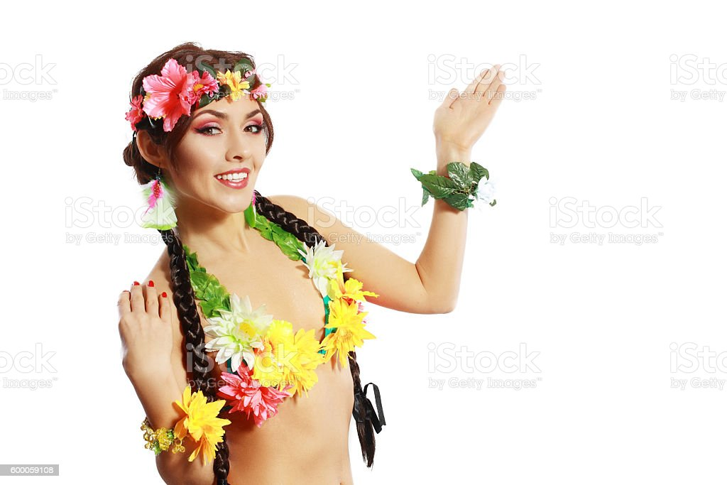 tropical woman stock photo