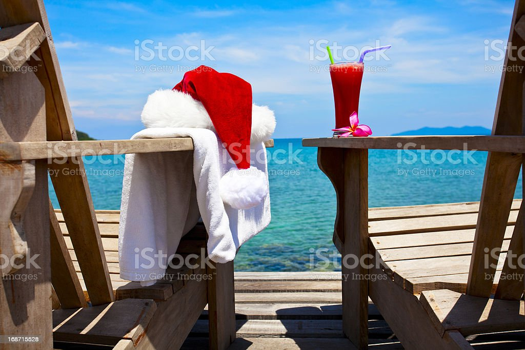 Tropical Xmas royalty-free stock photo