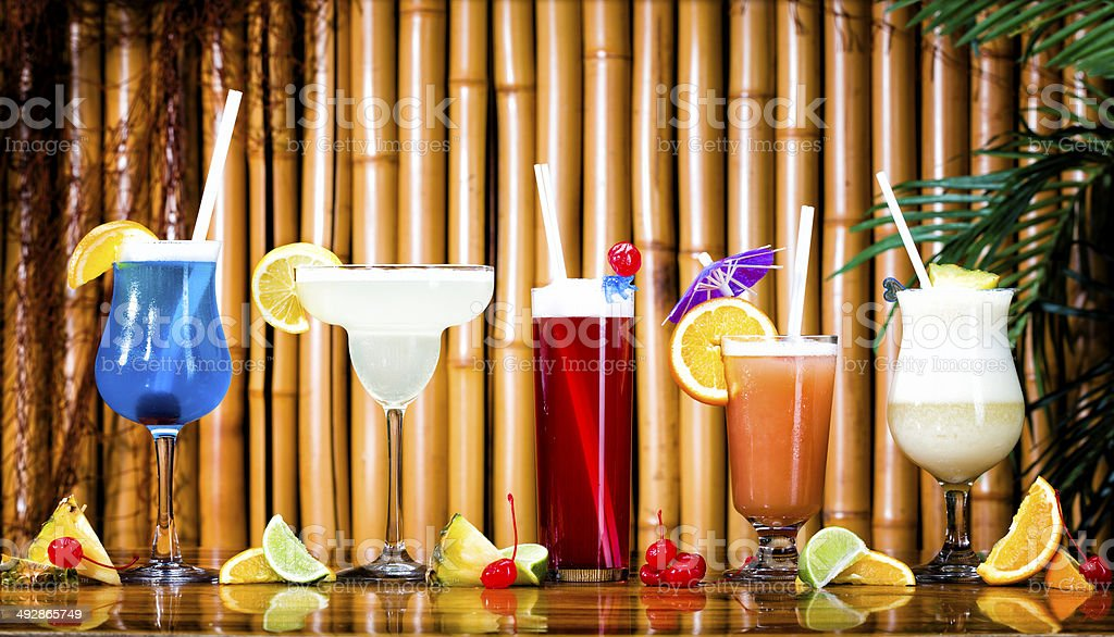 Tropicals Drinks Family stock photo