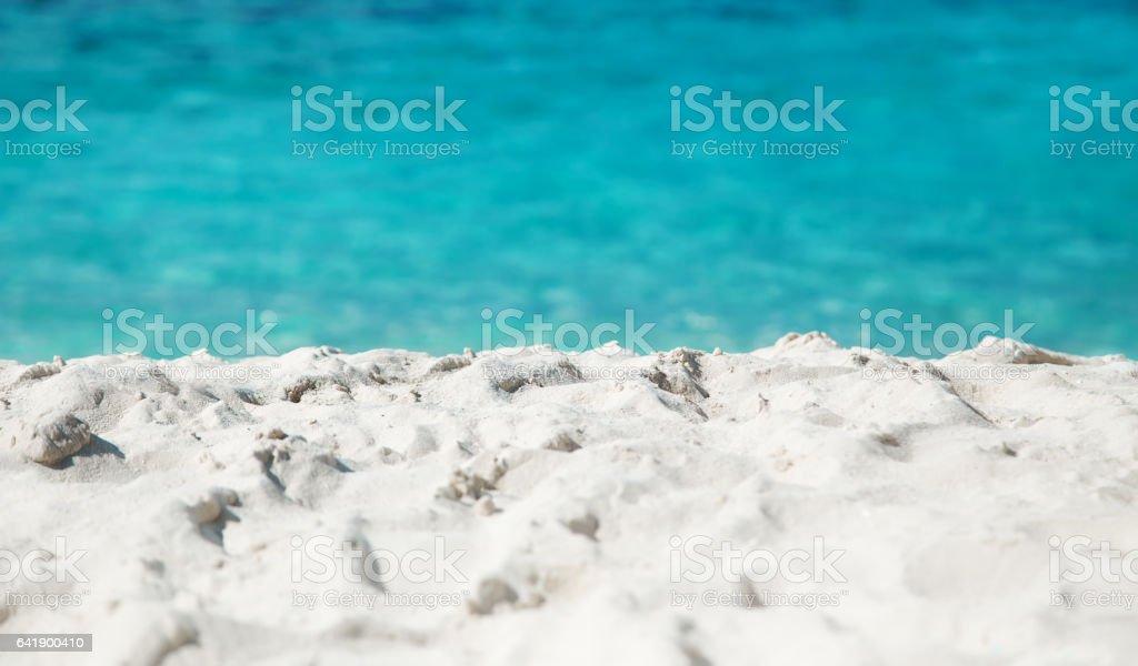 Tropocal white sand beach landscape at daytime stock photo