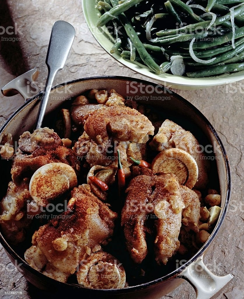 Trotters with Chickpeas stock photo