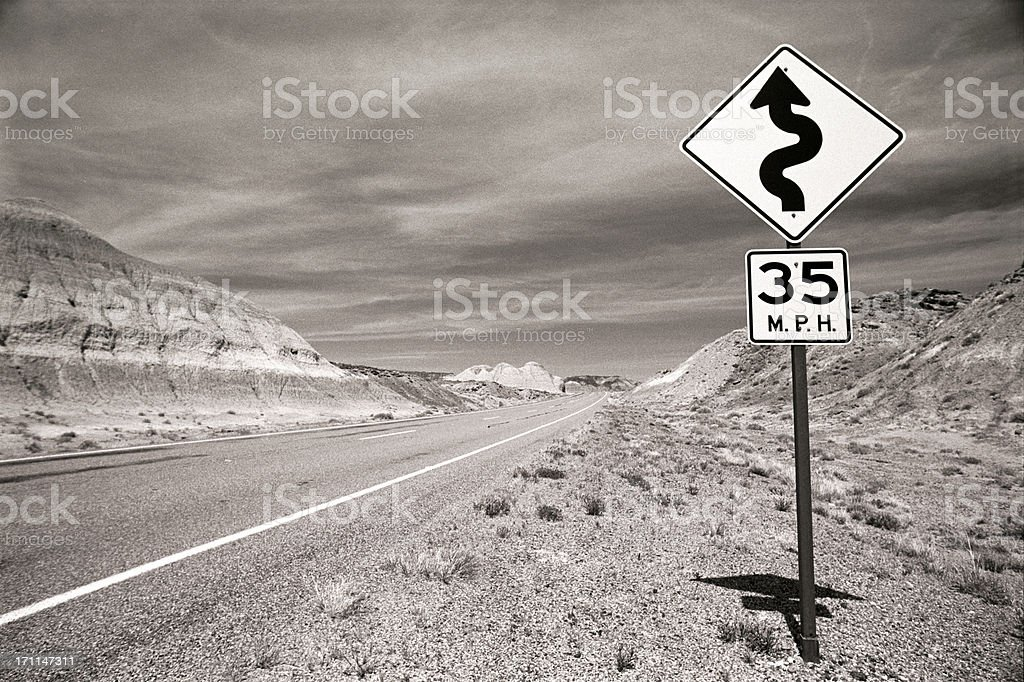 trouble ahead royalty-free stock photo