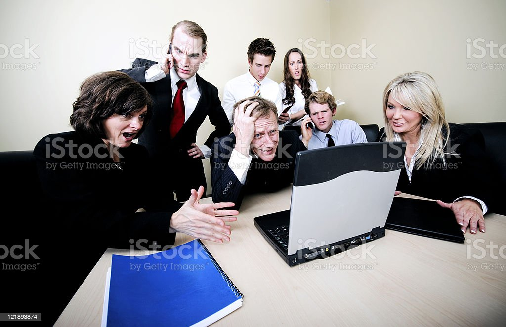 Trouble In The Office royalty-free stock photo
