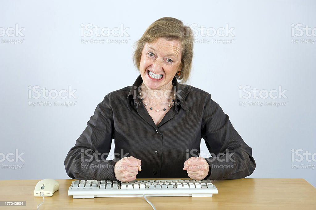 trouble in the office stock photo