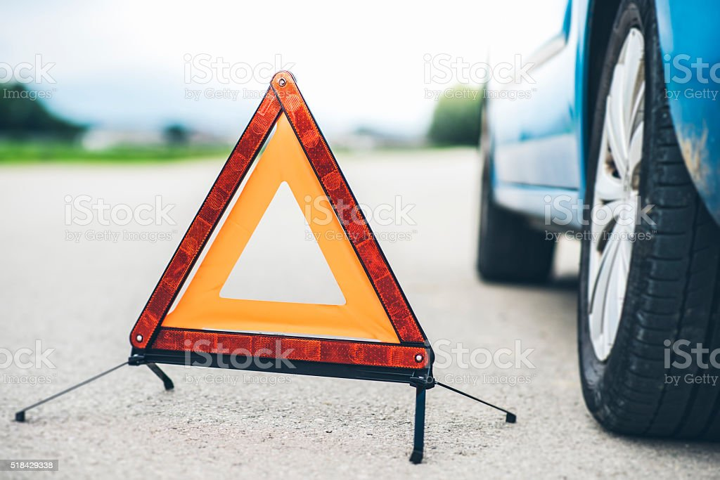 Trouble on the road stock photo