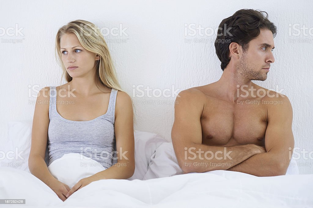 Trouble under the covers royalty-free stock photo